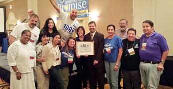 Members from the San Antonio Alliance for Teachers and Support Personnel