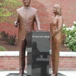 "Sculpture at Hamilton High School in Hamilton, OH to commemorate signing of the ""No Child Left Behind"" Act in the school's gymnasium in 2001. Photo by StrangerInterlude."