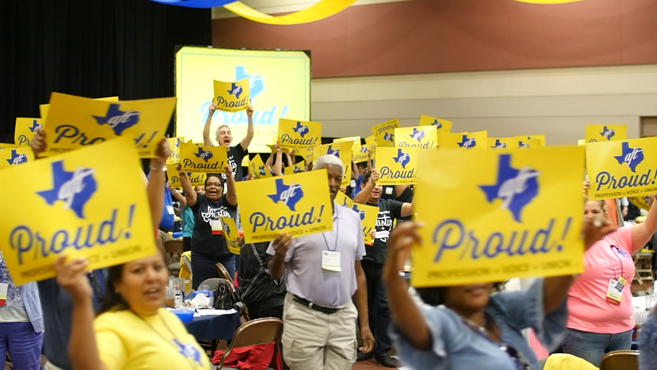 TExas AFT Convention Crowd