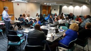 Leaders from unions, nonprofits and community organizations gather in September at an AFT-sponsored event in Washington, D.C., to discuss strategies for expanding community schools programs.