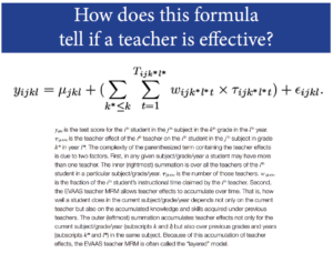 Part of the EVAAS formula for teacher evaluations.