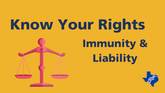 "Text says, ""Know Your Rights, Immunity and Liability"""